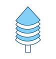 christmas tree pine vector image