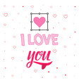 comic banner - i love you hand drawing vector image vector image