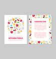 cooking time kitchen tools banner templates set vector image vector image