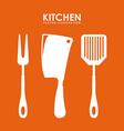 cutlery menu design vector image vector image
