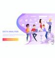 data analysis online service web banner vector image
