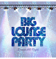 Disco background big lounge party vector image vector image