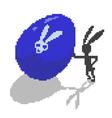 easter pixel bunny vector image