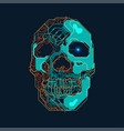 electronic skull vector image