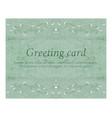 elegant greeting vintage cards vector image