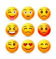 emoji set icon collection comic emotion sign vector image vector image