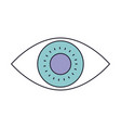 eye icon in color section silhouette vector image vector image