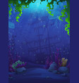 fish world match 3 background vector image vector image