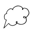 free hand drawing of a speech bubble vector image vector image