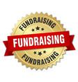 fundraising round isolated gold badge