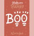 funny handwritten halloween vertical poster vector image vector image