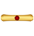 gold scroll closed vector image vector image
