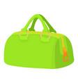 green sports bag icon cartoon style vector image vector image