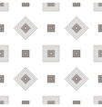 Grey square geometric seamless pattern vector image vector image