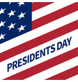 happy presidents day banner vector image vector image