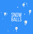 having snowballs from crowd winter vector image vector image