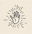 high five hand vector image vector image