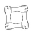 icon of crossed hands vector image