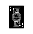 king of diamonds or tiles french playing cards vector image vector image