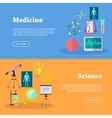 Medicine and Science Web Banners vector image vector image