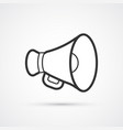 megaphone flat line black icon eps10 vector image vector image