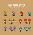 mini character magical kit vector image vector image
