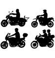 motorcyclists vector image vector image