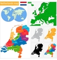 Netherlands map vector image vector image