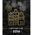 New Year 2016 amsterdam netherlands travel gold vector image