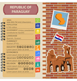 Paraguay infographics statistical data sights vector image vector image