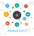 productivity trendy web concept with icons vector image