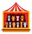 puppet show theatre vector image vector image