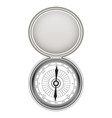 real steel metal compass on a white background vector image vector image