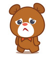 sad bear character vector image