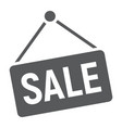 sale glyph icon e commerce and marketing vector image vector image