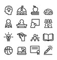 school icon set line vector image