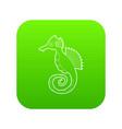 seahorse icon green vector image vector image