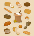 set bakery and confectionery on a white vector image vector image