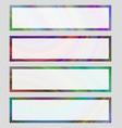 Set of colorful banner frames