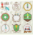 set of golf labels badges vector image