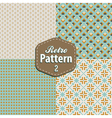 set retro patterns vector image