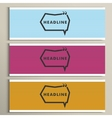 Set simple banners with speech bubbles vector image vector image
