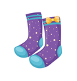 sock isolated on white background vector image vector image