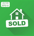 sold house icon business concept sold pictogram vector image vector image