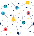 space seamless pattern vector image vector image