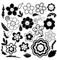 spring flowers are black and white vector image vector image