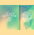 triangle and blured abstract background and vector image vector image
