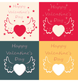 valentine day cards vector image vector image