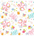 watercolor baby pattern vector image vector image