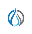wave water logo Template vector image vector image